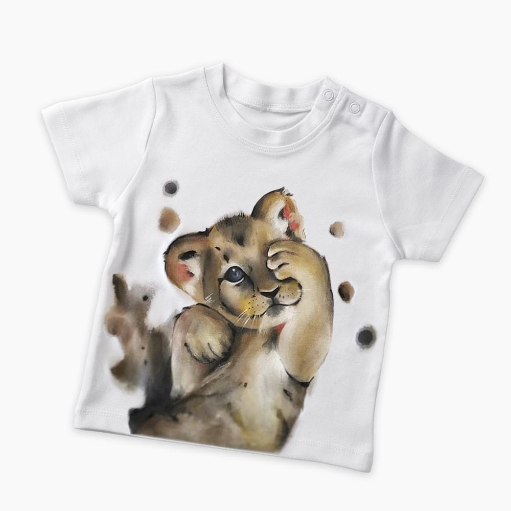 Бебешка тениска Лъвче