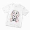 детска рисувана тениска със зайче